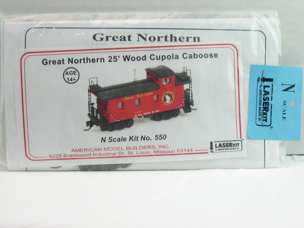 AMB-550 - GN 25' Wood Cupola Caboose Kit - N Scale