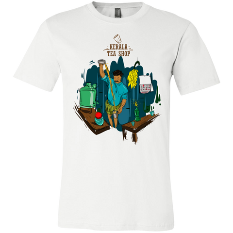 "3001C Bella Canvas Unisex Jersey Short-Sleeve T-Shirt - ""kerala Tea shop"""
