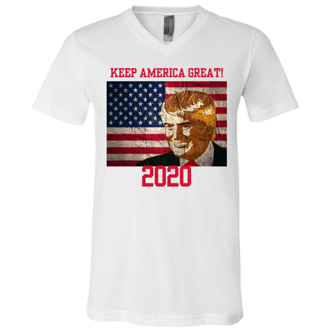 3005 Bella + Canvas Unisex Jersey SS V-Neck T-Shirt - Donald Trump
