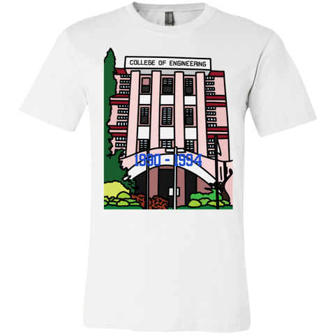 "3001C Bella Canvas Unisex Jersey Short-Sleeve T-Shirt - ""Trivandrum Engg College"" Doodle -Personalised year"