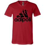 3005 Bella + Canvas Unisex Jersey SS V-Neck T-Shirt - Adipoli