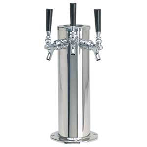"4"" Column - 3 304 Faucets - Polished Stainless Steel - Glycol Cooled # DS-143-PSSKR"