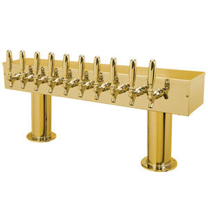 Double Pedestal - 10 Faucets - PVD Brass - Air Cooled # DPT410PVD