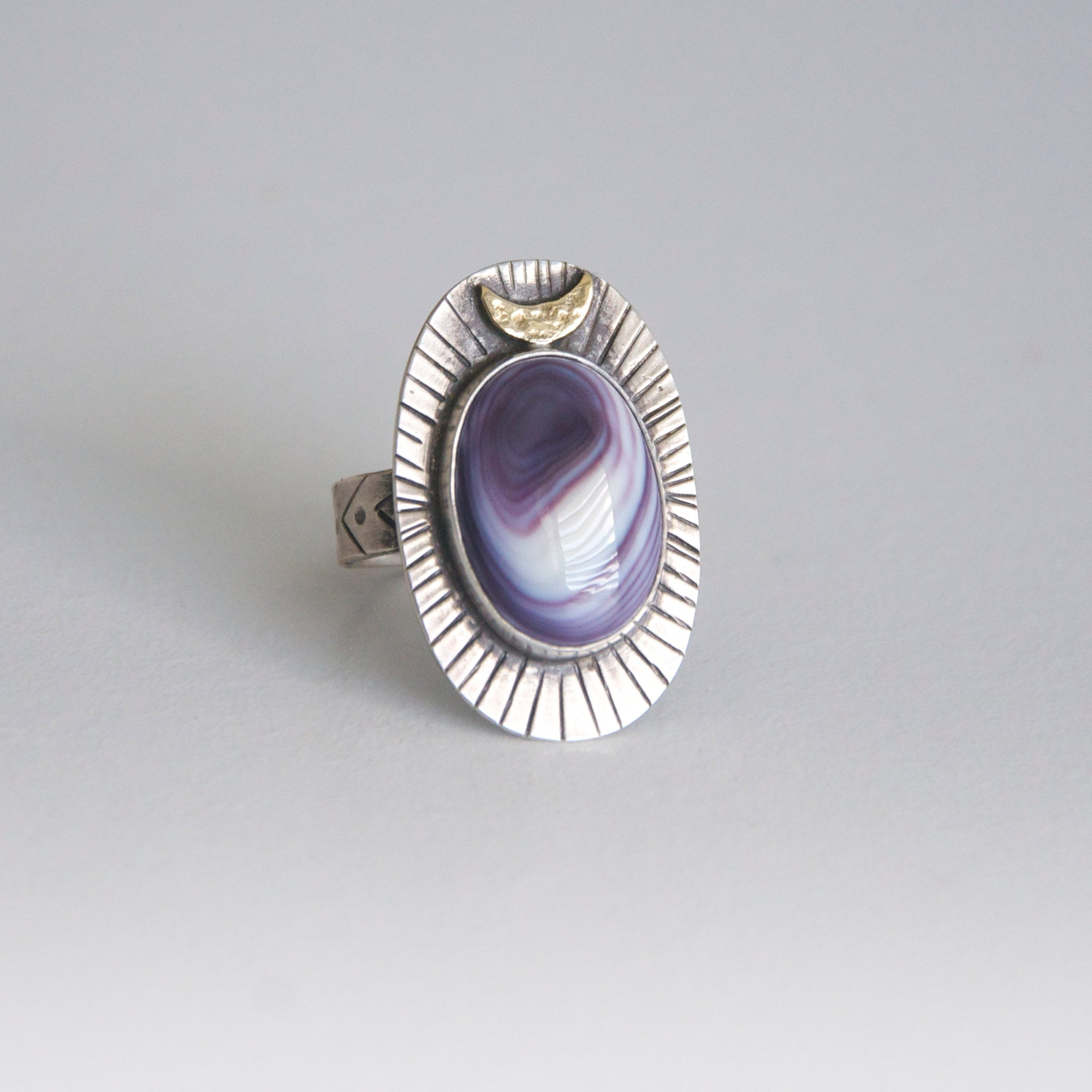 Crescent-Moon-and-Wampum-Set-in-Fine-Silver-and-Sterling-Silver