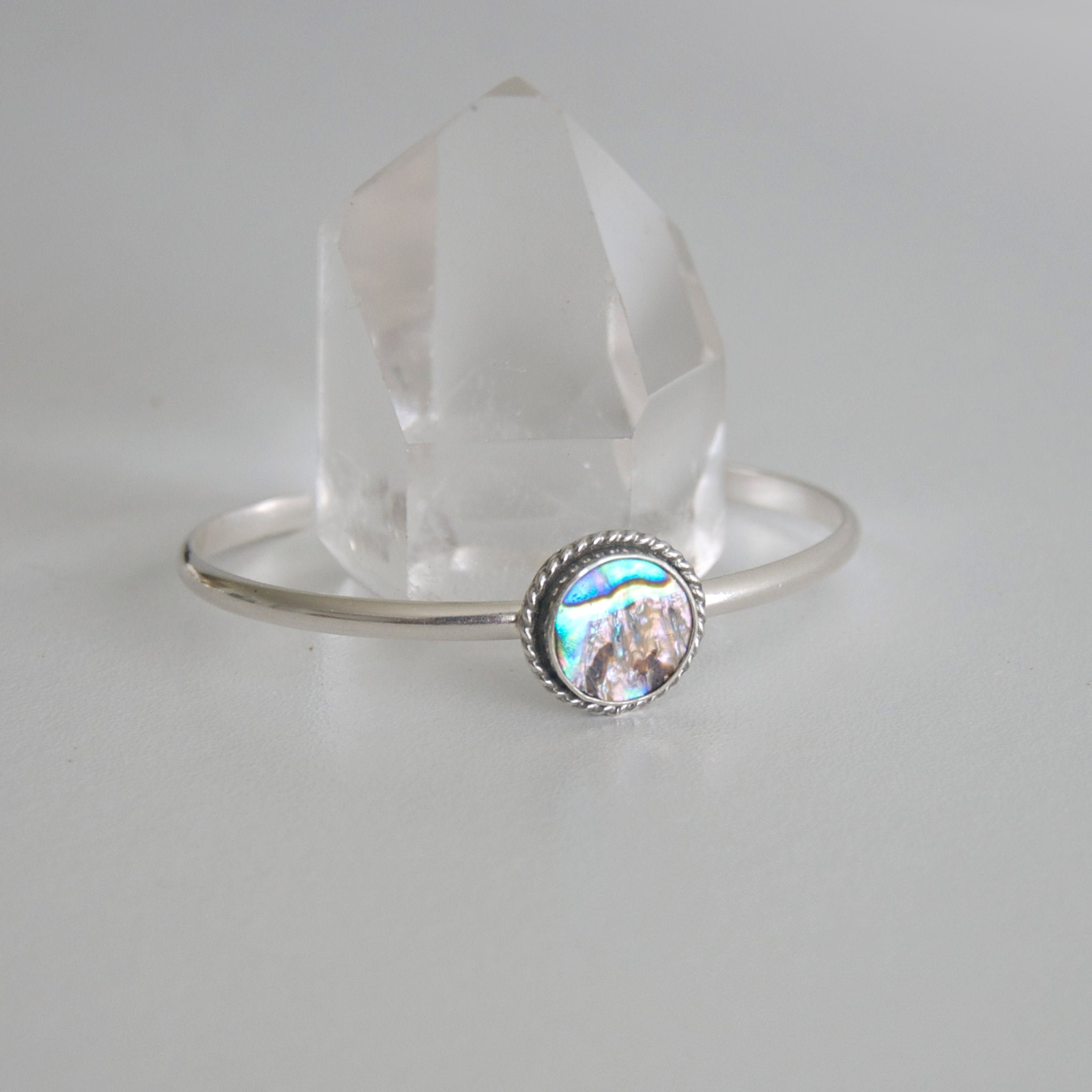 Simple-Embelished-Abalone-Sterling-Silver-Cuff