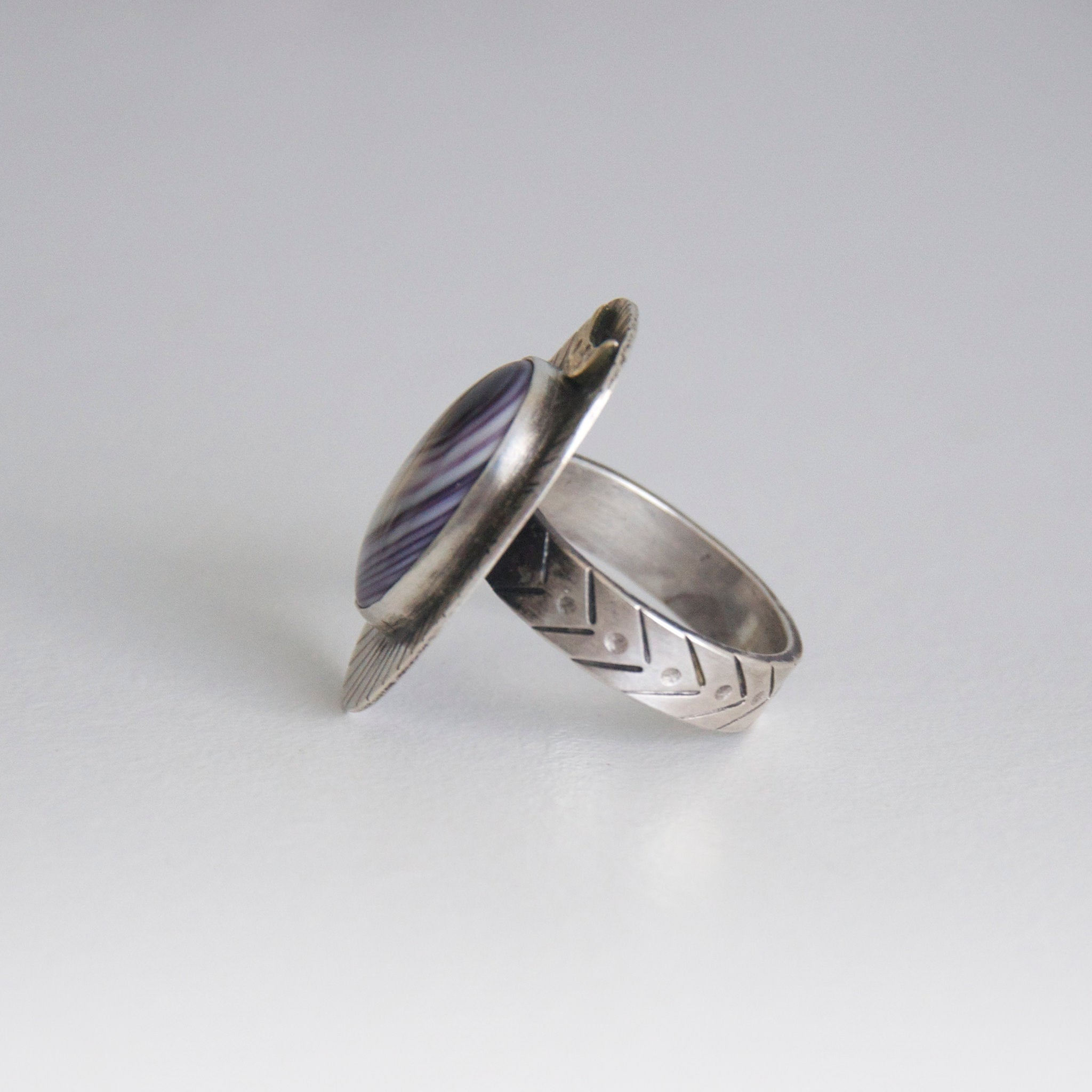 Wampum Moontide Ring- Size 8