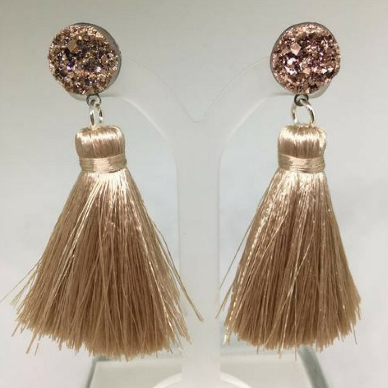 Cannes Tassel Earrings (Champagne)