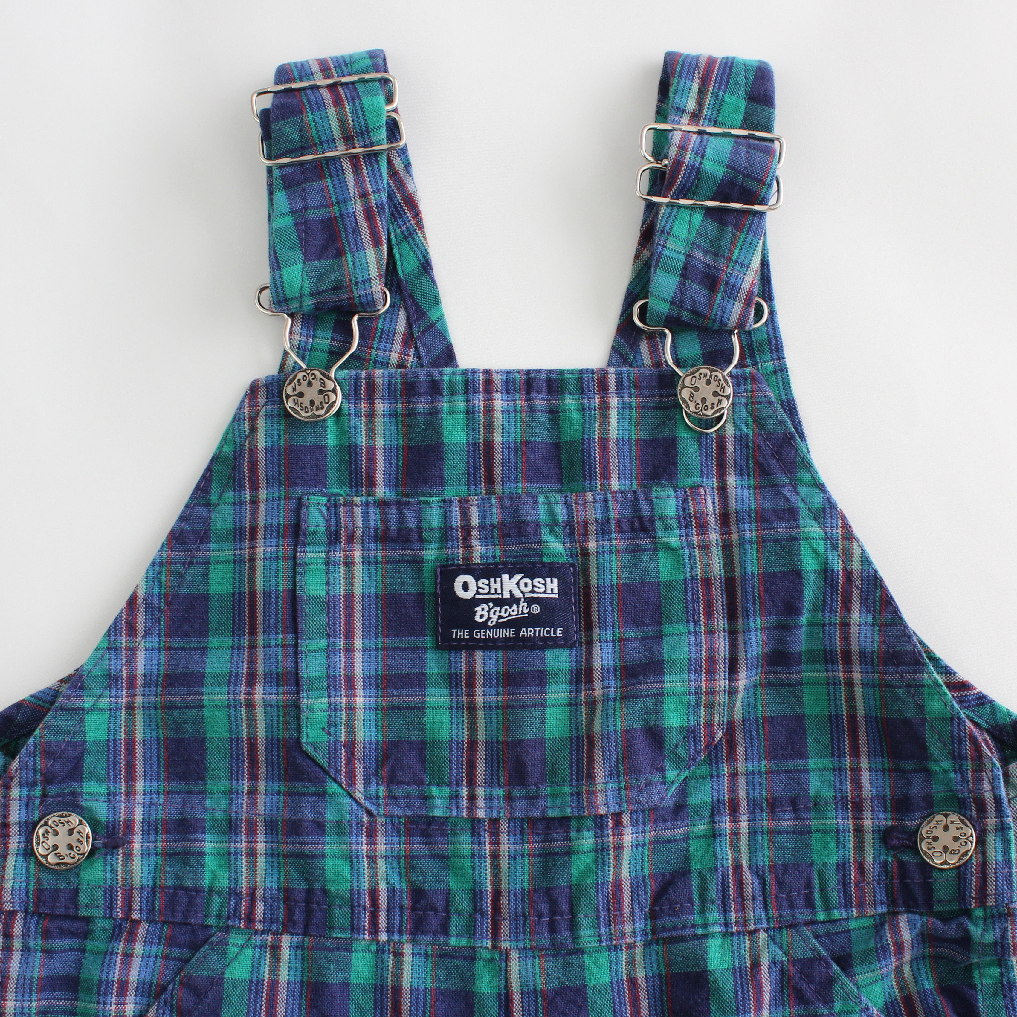 Vintage OshKosh Plaid Overalls