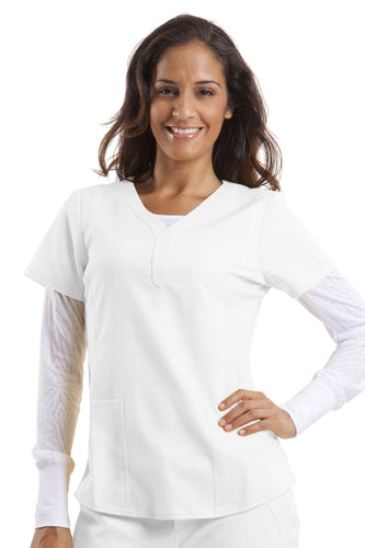 2167 Healing Hands Jane Top in White