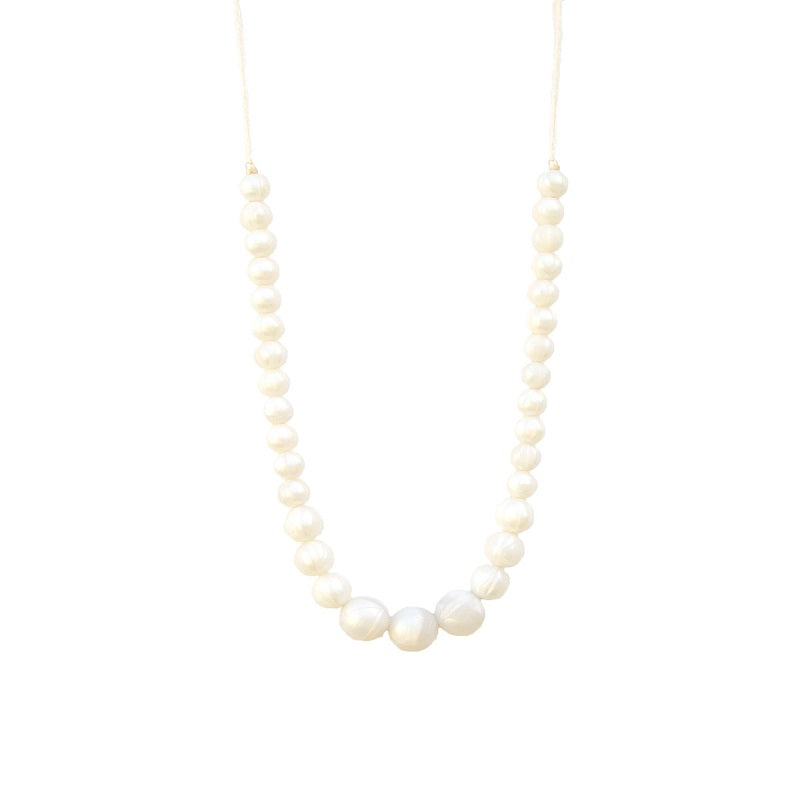 Classic Teething Necklace - Pearl