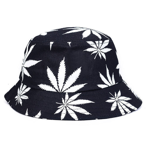 2018 New Women Men Vogue Hemp Leaf Design Basin Caps Maple Leaves Brooklyn Bucket Hat Fisherman Hat Leisure Hats