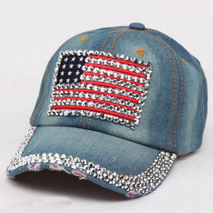 Fashion casquette  gorras High Quality Cowboy Hip-Hop Baseball Cap Full Diamond  Flat Snapback Hat  A#487