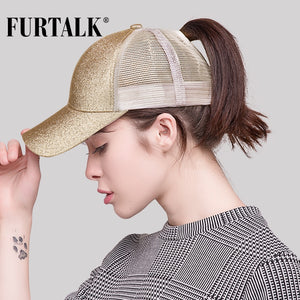 2018 Dropshipping Ponytail Baseball Cap Women Messy Bun Baseball Hat Snapback HTPU009
