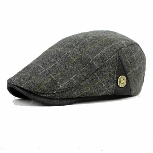 Men Casual Cap Wo Berets for Men Women Winter Warm Newsboy Classic Plaid Flat Grey Khaki Black French Artist Hat