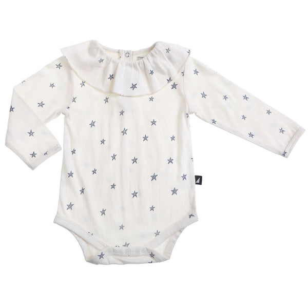 Starry Night Frill Bodysuit Lily White