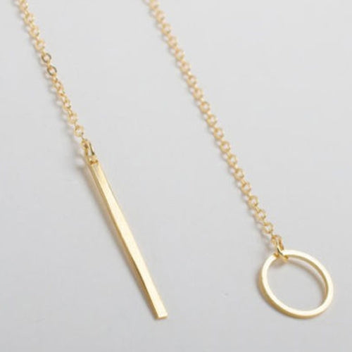 Gold Y Shaped Necklace