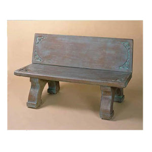 Big Cement Bench with Back