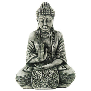 Meditating Buddha Statue, 10 inches H x 4 inches D x 7 inches W