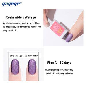 YAYOGE Magnetic Bright Dark Aerolite Wide Cat Eye Nail Gel Polish Varnish Soak Off UV LED Gel Art DIY A71 - YAYOGE Official