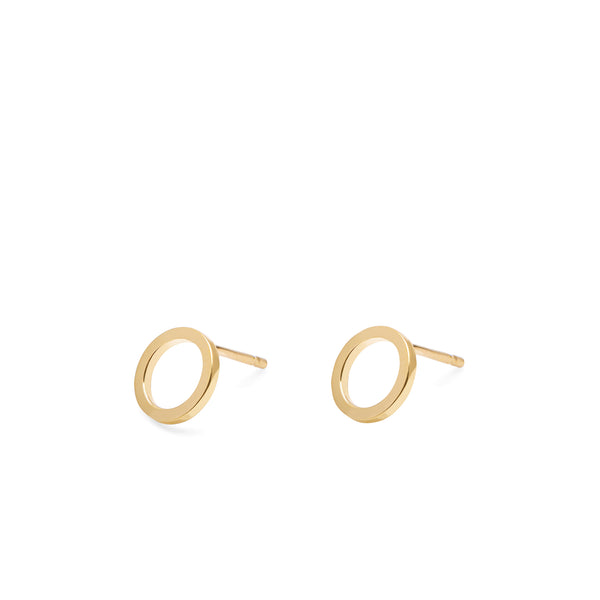 Circle Stud Earrings - Gold - Myia Bonner Jewellery