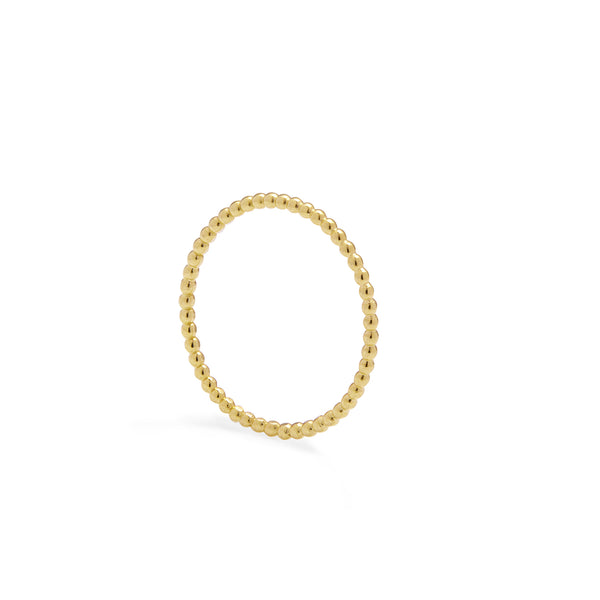 Skinny Sphere Stacking Ring - Gold - Myia Bonner Jewellery