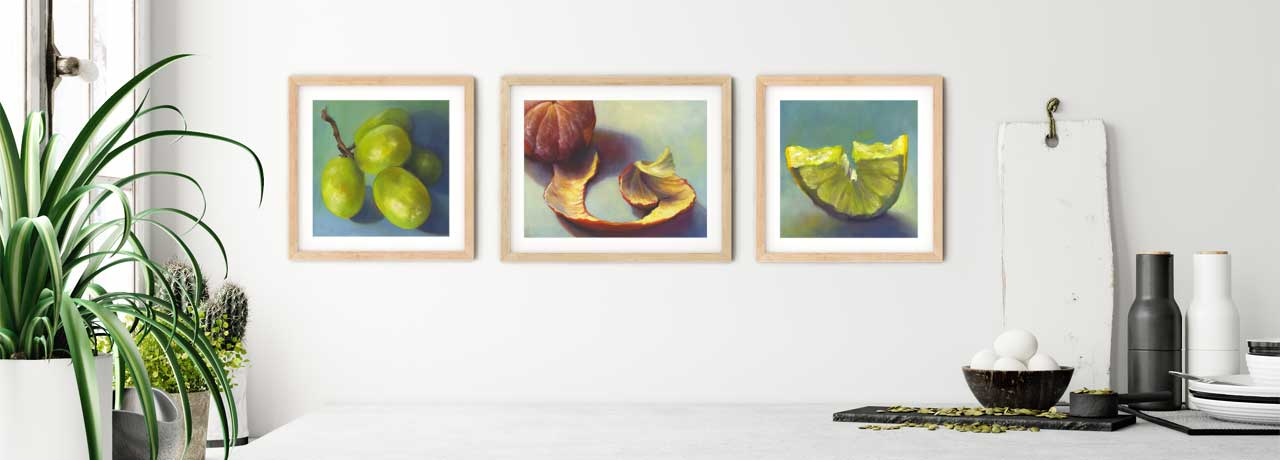 Galleria Fresco food still life oil paintings for your kitchen art wall