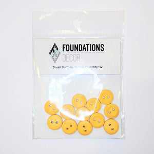 Buttons - Yellow, 12 Small