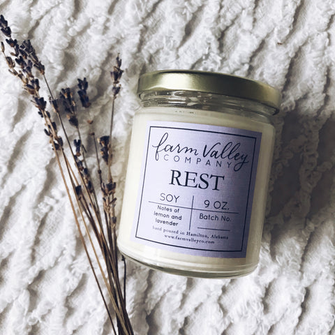 """Rest"" Candle, 9 oz"