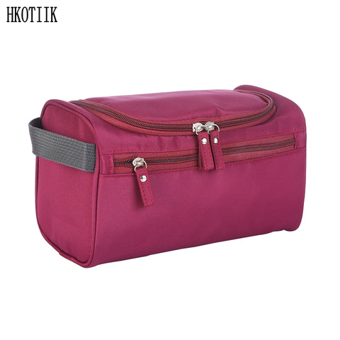 SAMPURCHASE Waterproof Cosmetic Bag Nylon Travel Organizer Make-up