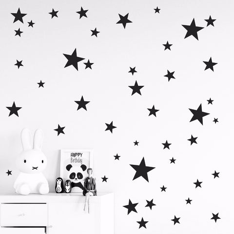 SAMPURCHASE 150pcs mixed size easy apply removable starry stars wall stickers