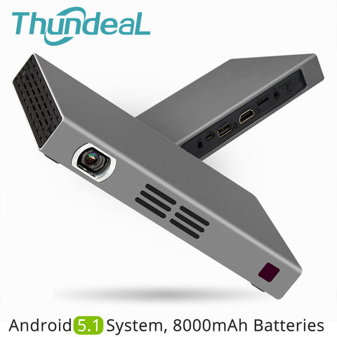 sampurchase ThundeaL T16 DLP Projector 280ANSI Android 5.1 WiFi Bluetooth Battery Handheld Game Video Miracast Airplay Mini LED Projector