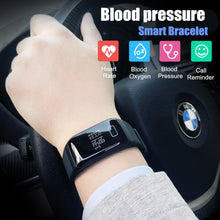 sampurchase Sport Blood Pressure Smart Bracelet Waterproof Heart Rate Monitor Fitness Tracker  Watch Passometer Stopwatch call reminder