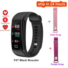 sampurchase Hold Mi F07 Waterproof Smart Bracelet Heart Rate Monitor Blood Pressure Fitness Tracker Smart band Sport Watch for ios android