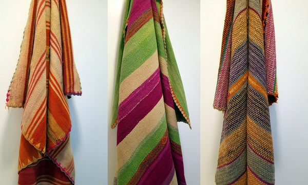 Vintage Hand-loomed, Vegetable dyed Wool Textiles from Cuzco