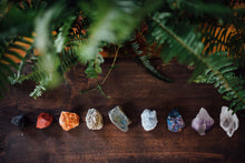 Load image into Gallery viewer, Raw crystals from The Chakra Box for chakra healing and crystal healing featuring essential oils, ceremonial cacao, and an herbal bundle