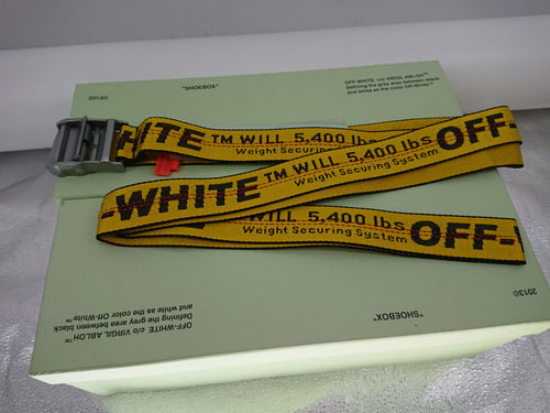Off White Industrial Belt - Yellow (Silver Buckle)