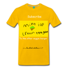 Mint ice cream T shirt - sun yellow