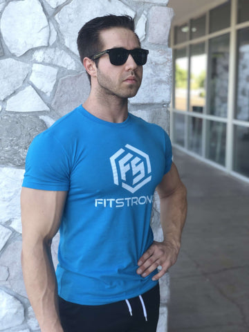 Image of Blue FitStrong Crewneck