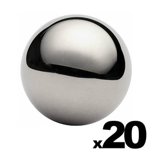 "20 - 1-1/2"" (1.5"") Inch G25 Precision Chrome Steel Bearing Balls"