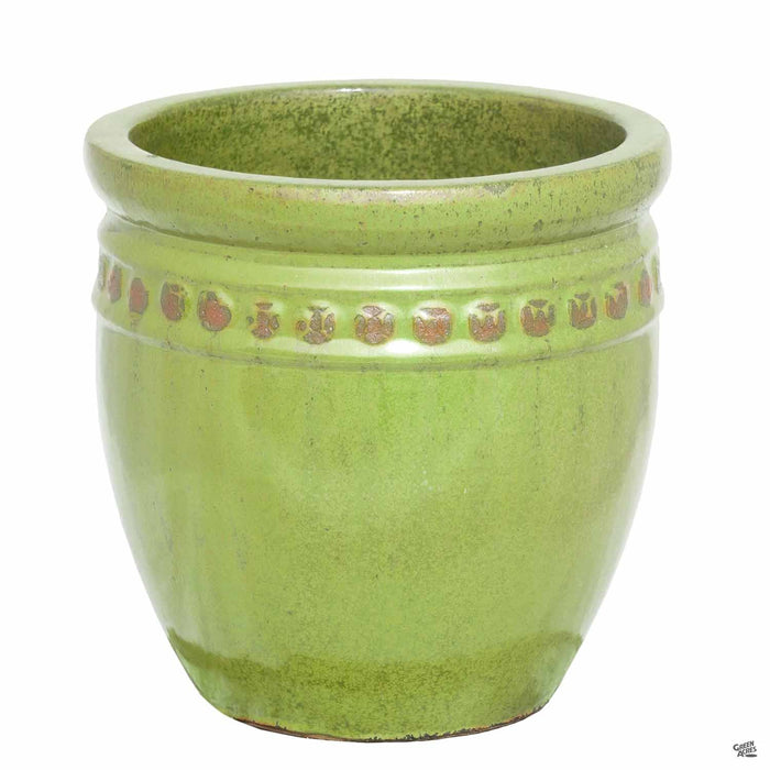 Decor Pot with Pattern - Size 4 in Green