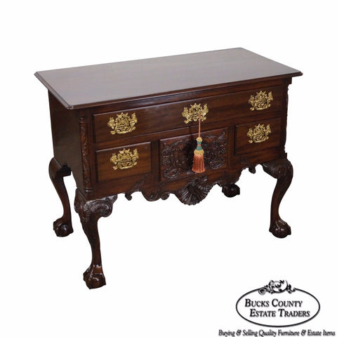 Kindel Winterthur Collection Chippendale Style Carved Mahogany Lowboy