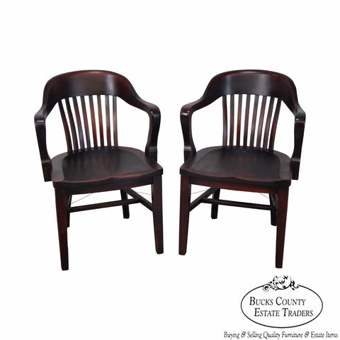 "Antique Pair of ""Bank of England"" Arm Chairs by The Sikes Company"