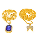 Iced Jewel & Pendant Set