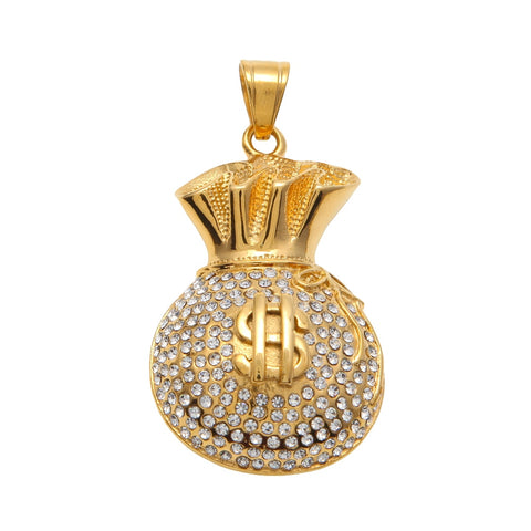 Iced Moneybag Pendant