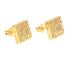 Iced Triangular Square Earrings