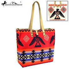 Load image into Gallery viewer, Montana West American Native Collection Dual Sided Print Canvas Fabric Tote