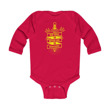 Load image into Gallery viewer, SEO Will Never Die - BrightonSEO Infant Long Sleeve Bodysuit