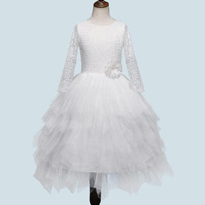 Hollowed-out white princess dress