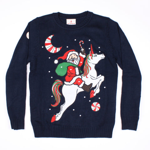 Unicorn Santa Funny Christmas Sweater
