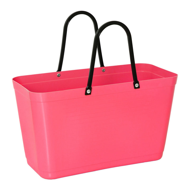 HInza bag large green plastic - Tropical pink